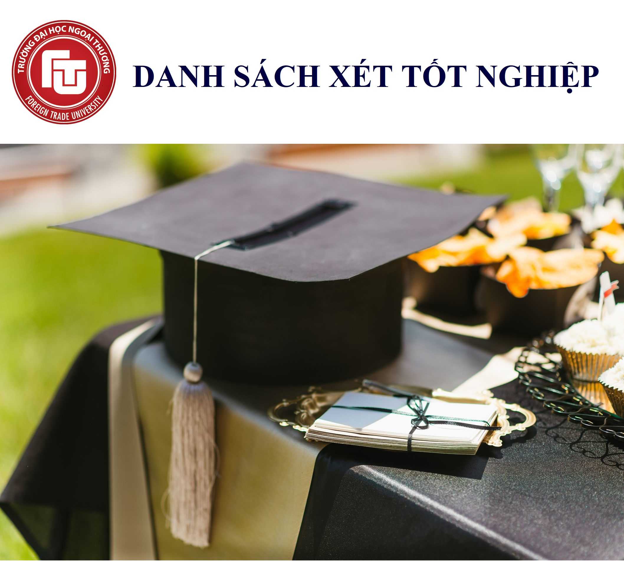 Danh sách dự kiến xét tốt nghiệp khóa 17B, 21, 22A các chuyên ngành KTQT, QTKD, KDTM, TC-NH và Chính sách & Luật TMQT