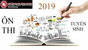Thông báo mở lớp ÔN THI TUYỂN SINH đào tạo trình độ THẠC SĨ Đợt 1 năm 2019