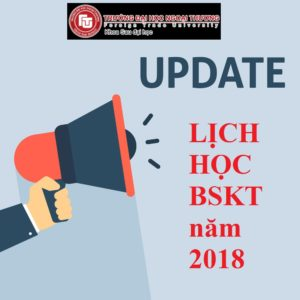 Lịch học BSKT ngành TCNH và EMBA – Tháng 6/2018