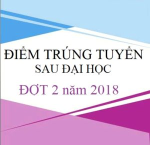 THÔNG BÁO ĐIỂM TRÚNG TUYỂN KỲ TUYỂN SINH TRÌNH ĐỘ THẠC SĨ ĐỢT 2 NĂM 2018