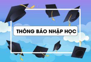Thông báo nhập học các chương trình đào tạo trình độ thạc sĩ, Đợt 1 năm 2019