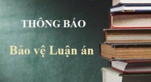 Trường Đại học Ngoại thương tổ chức BẢO VỆ LUẬN ÁN tiến sĩ cấp Trường cho NCS Nguyễn Thị Quỳnh Nga – K20A, ngành QTKD