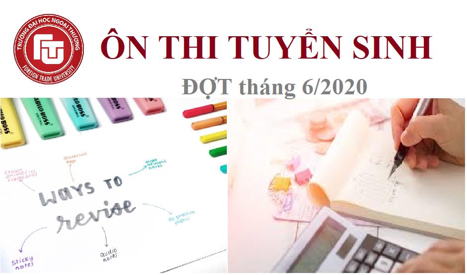 Thông báo mở lớp ÔN THI tuyển sinh đào tạo trình độ THẠC SĨ tháng 6 năm 2020